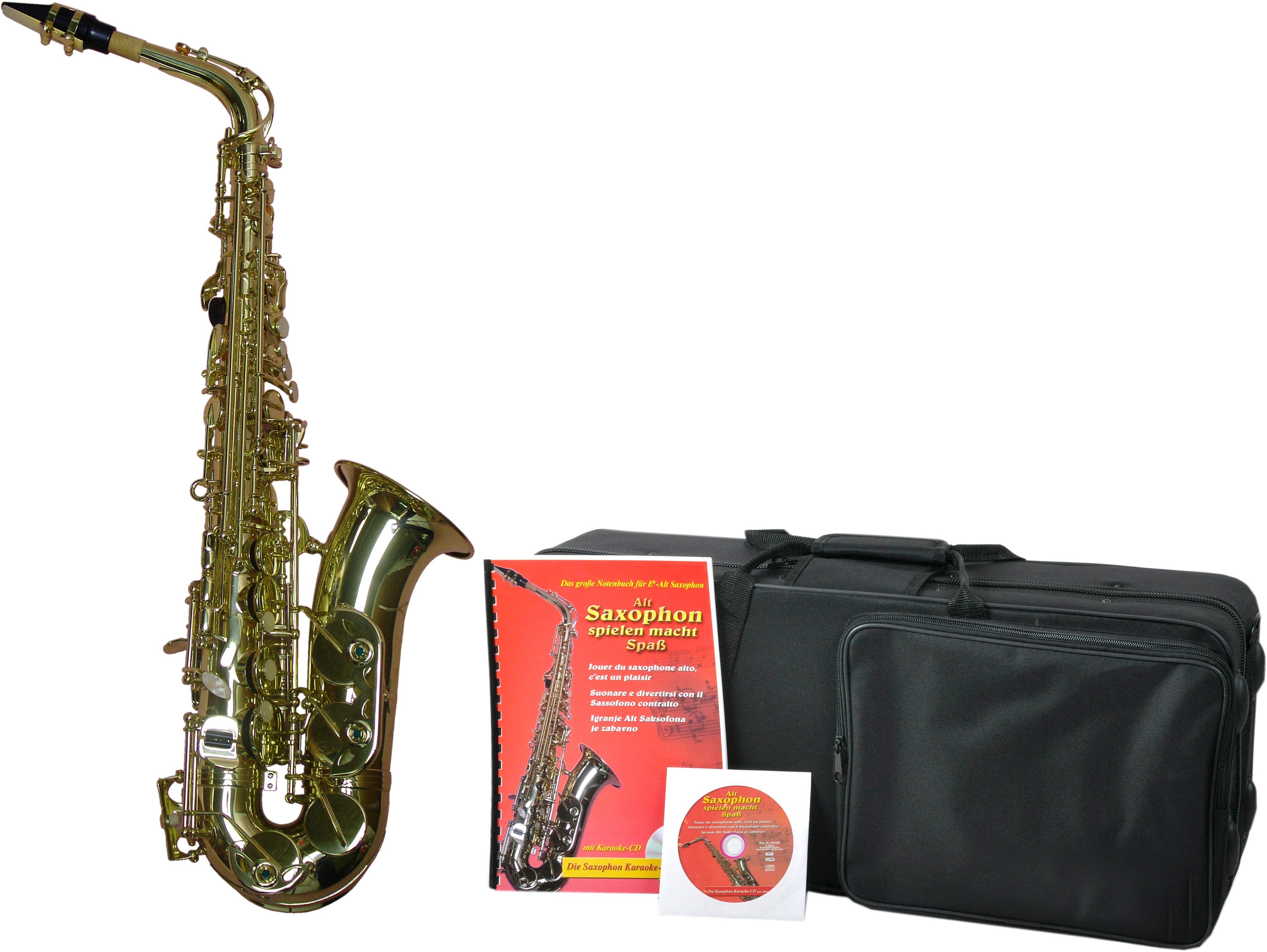 Clifton Saxophon Eb-Alt, mit Koffer braun Blasinstrumente Musikinstrumente Audio, MP3, Musik