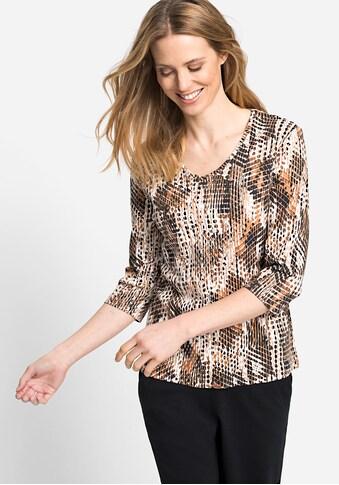 Olsen V-Shirt, mit abstraktem Animalprint kaufen
