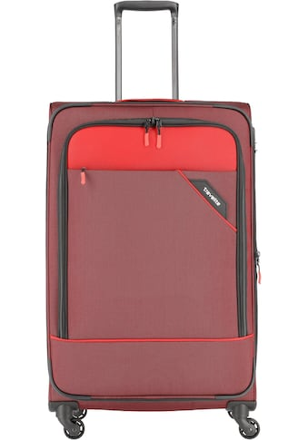 travelite Weichgepäck-Trolley »Derby, 77 cm, rot«, 4 Rollen, mit Volumenerweiterung kaufen