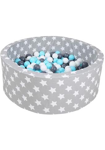 """Knorrtoys® Bällebad """"Soft, Grey white stars"""" kaufen"""