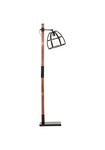 Brilliant Leuchten Matrix Wood Standleuchte 1flg schwarz stahl/holz kaufen