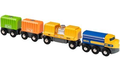BRIO® Spielzeug-Eisenbahn »Güterzug mit drei Waggons«, FSC®-Holz aus gewissenhaft... kaufen