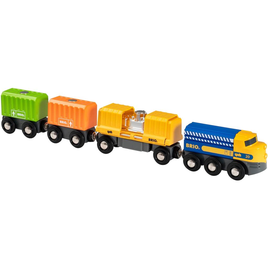 BRIO® Spielzeug-Eisenbahn »Güterzug mit drei Waggons«, FSC®-Holz aus gewissenhaft bewirtschafteten Wäldern