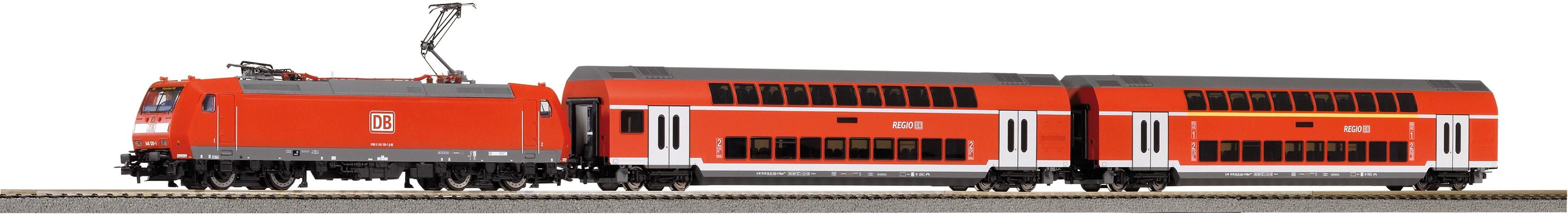 PIKO Modelleisenbahn-Set SmartControl light Doppelstockpersonenzug DB, (59023) rot Kinder Modelleisenbahn-Sets Modelleisenbahnen Autos, Eisenbahn Modellbau