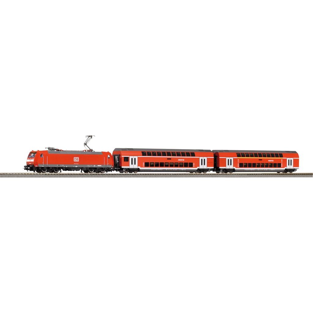 PIKO Modelleisenbahn-Set »SmartControl light Doppelstockpersonenzug DB, (59023)«