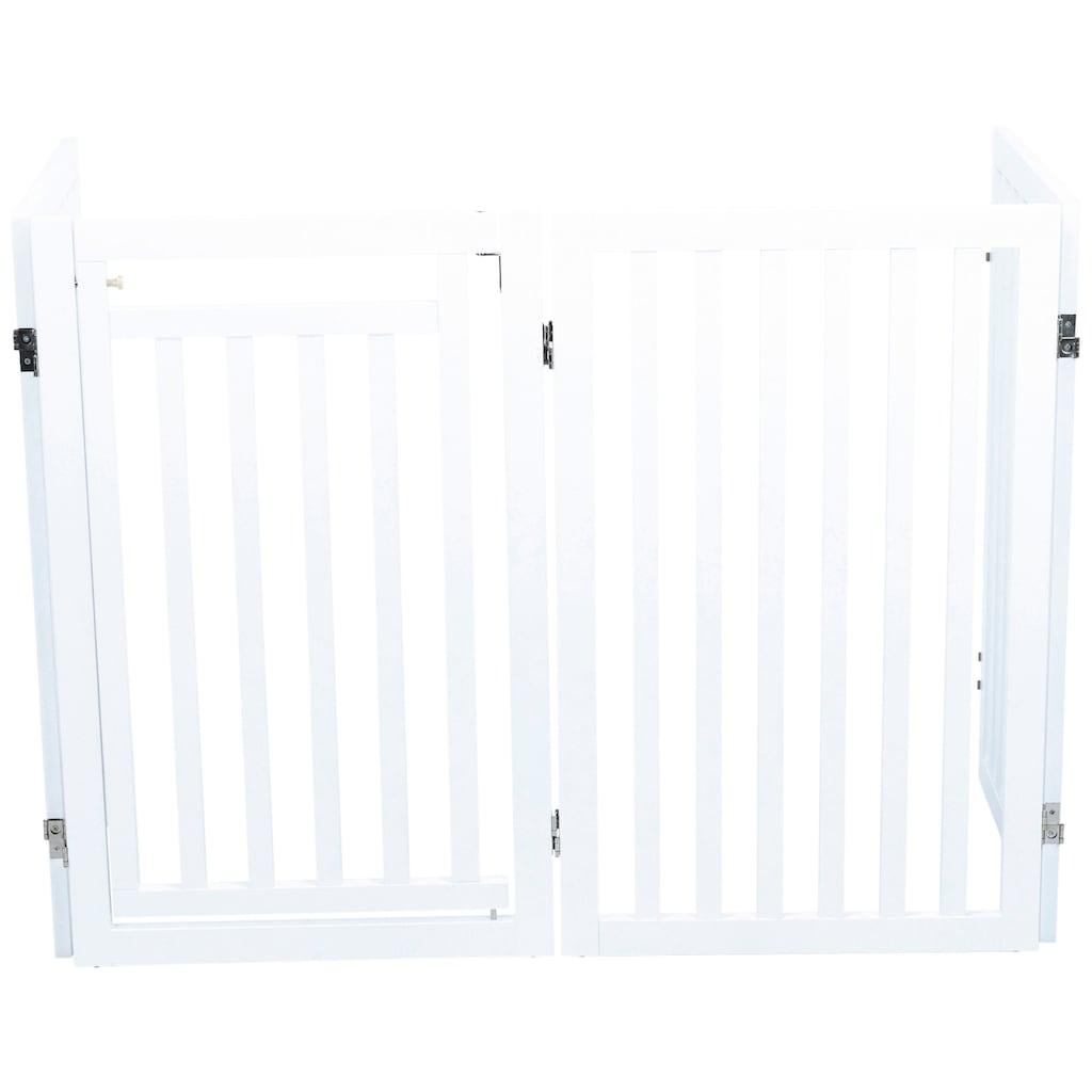 TRIXIE Hundegitter, BxH: 60-160x81 cm, mit kleiner Tür