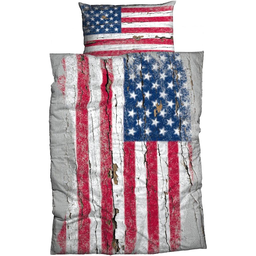 CASATEX Bettwäsche »Stars & Stripes«, mit Flagge