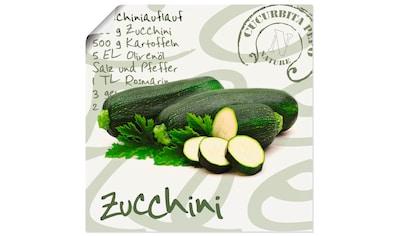 Artland Wandbild »Angeschnittene Zucchini« kaufen