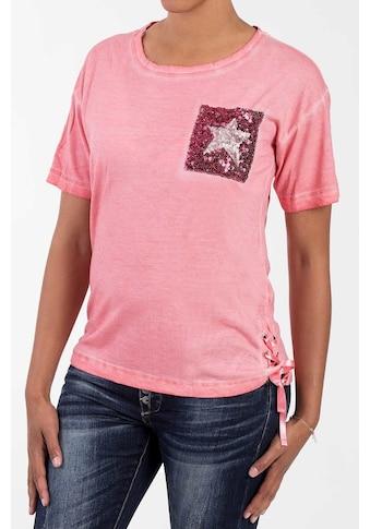 Blue Monkey T-Shirt, mit Pailletten und Schnürung kaufen