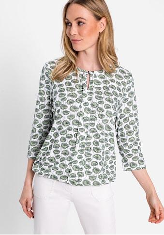 Olsen Rundhalsshirt, mit Allover-Druck kaufen
