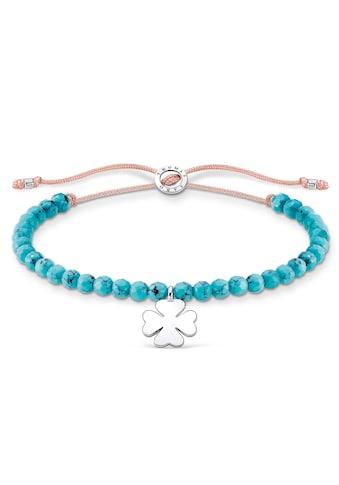 THOMAS SABO Armband »Kleeblatt, A1983-905-17-L20v«, mit imit. Türkis kaufen