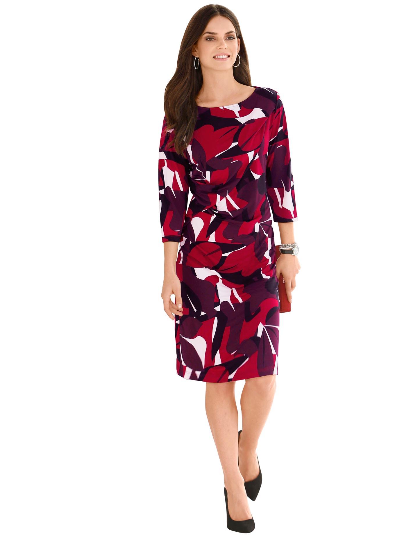 Lady Jersey-Kleid kaschierender Raffung in der Taille