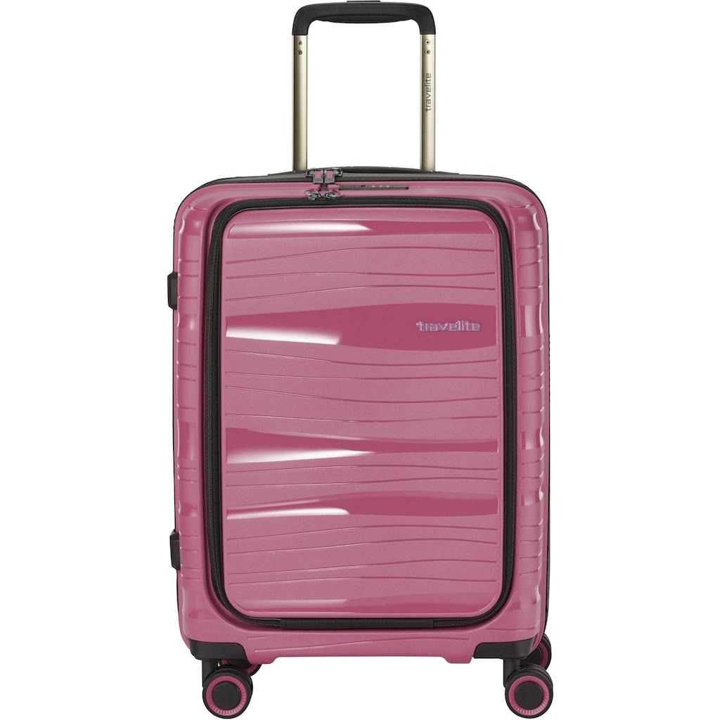 travelite Business-Trolley »Motion, 55 cm«, 4 Rollen, mit aufklappbarer Vortasche