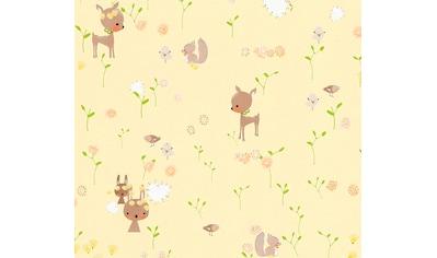 living walls Papiertapete »Boys & Girls«, Kinderzimmertapete mit niedlichen Tieren, umweltfreundlich kaufen