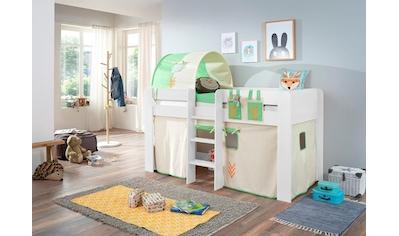Relita Hochbett »Andi«, mit Rolllattenrost und Textil-Set kaufen