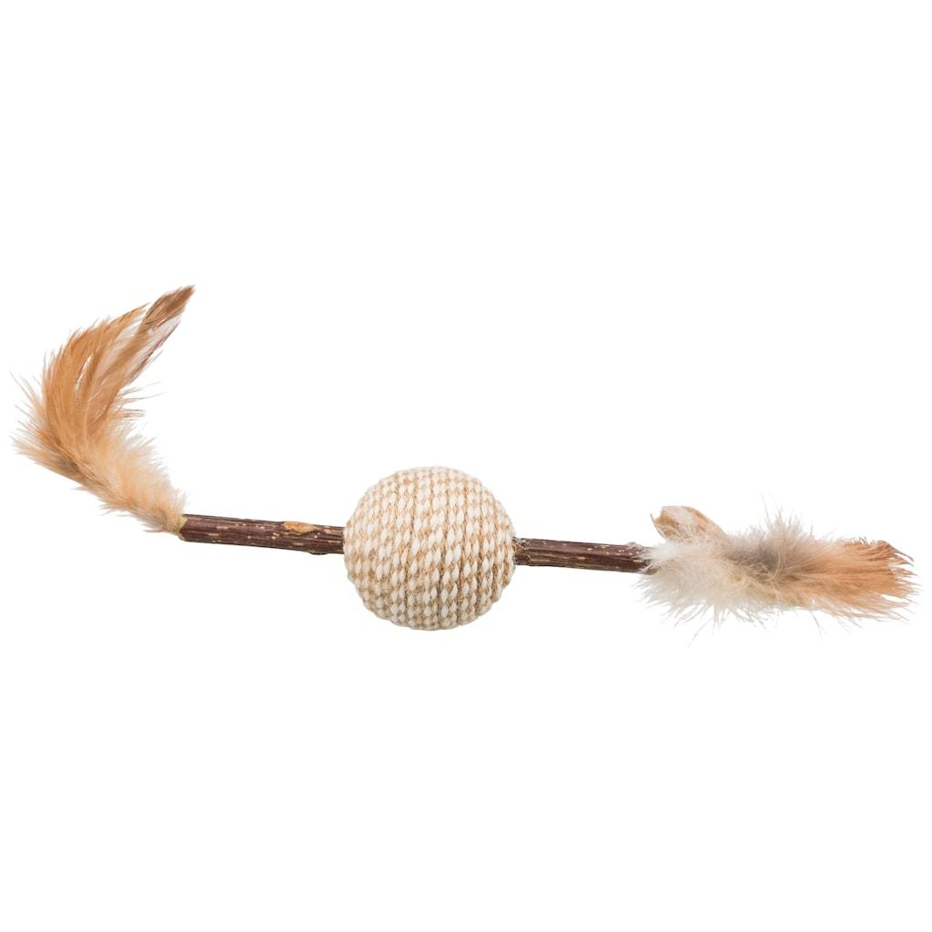 TRIXIE Spielknochen »Matatabi Federspielzeug«, 20 cm Länge
