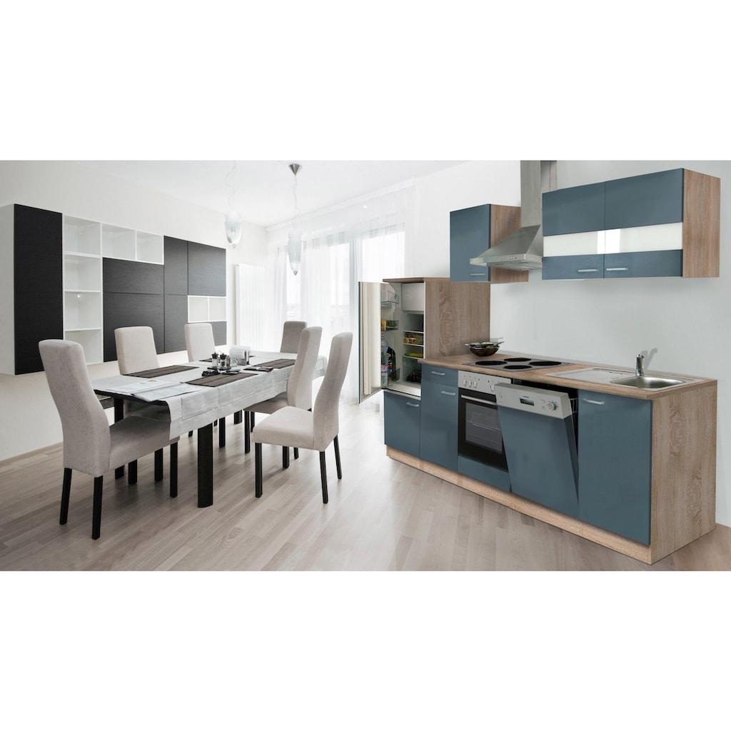 RESPEKTA Küchenzeile »Anna«, mit E-Geräten, Breite 280 cm, mit Edelstahl-Kochmulde