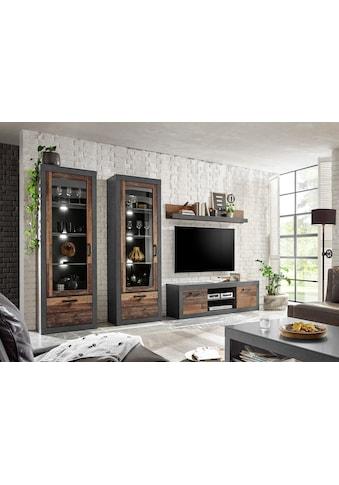 Home affaire Wohnwand »BROOKLYN«, (4 St.), in dekorativer Rahmenoptik kaufen