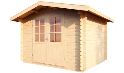 WOLFF FINNHAUS Gartenhaus »Bibertal 28 - B«, BxT: 350x330 cm, inkl. Fußboden und Vordach kaufen