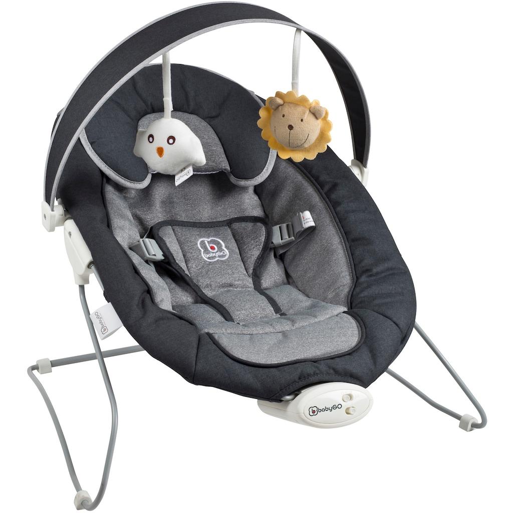 BabyGo Babywippe »Cozy, anthracite«, bis 9 kg, mit Sound und Vibrationsfunktion