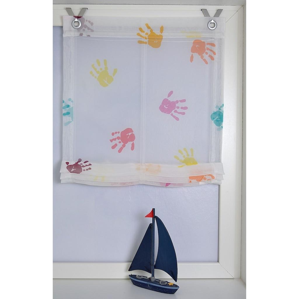 Kutti Raffrollo »Hände«, mit Hakenaufhängung, ohne Bohren