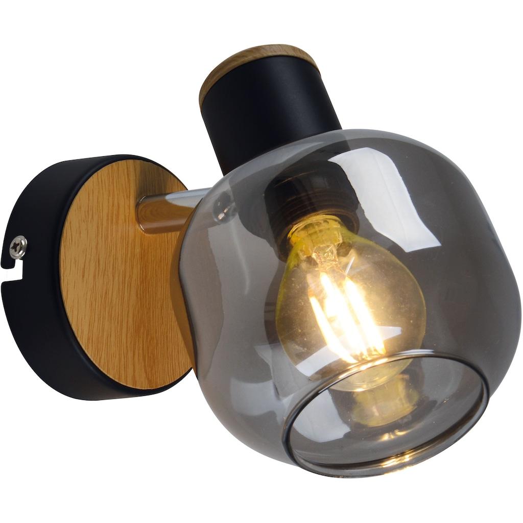 näve Wandleuchte »Fumoso«, E14, 1 St., Smoking Glas