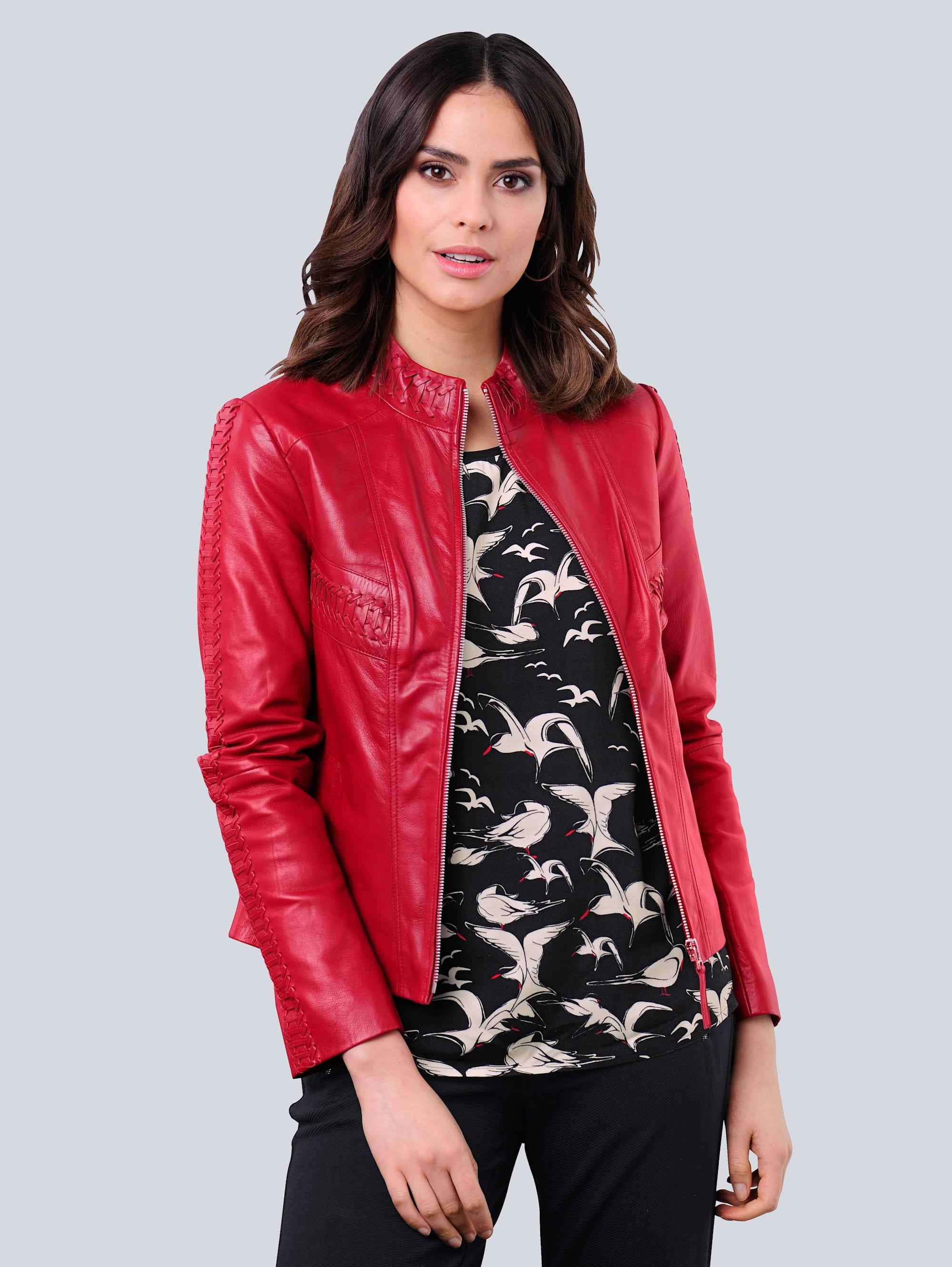 alba moda -  Lederjacke, aus hochwertigem weichem Lammnappaleder