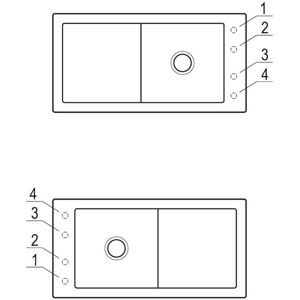 Villeroy & Boch Küchenspüle »Timeline 60«, inkl. Ablaufgarnitur mit Excenterbetätigung, 1000 x 510 mm