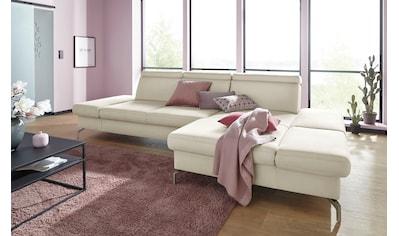 sit&more Ecksofa, Fußhöhe 15 cm, inklusive Sitztiefen-, Armteil- und Kopfteilverstellung kaufen