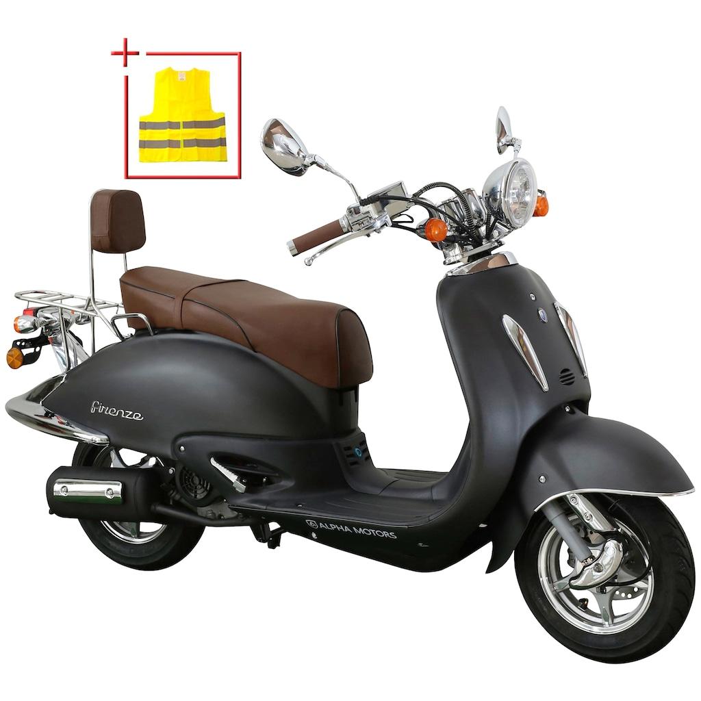Alpha Motors Motorroller »Retro Firenze«, 3 PS, mit Topcase
