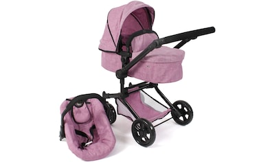 CHIC2000 Kombi-Puppenwagen »Linus, jeans pink«, mit Babywanne und Autositz kaufen