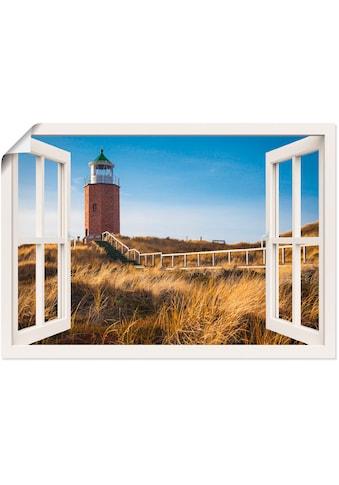 Artland Wandbild »Fensterblick Leuchtfeuer Kampen«, Fensterblick, (1 St.), in vielen... kaufen