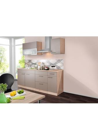 wiho Küchen Küchenzeile »Montana«, mit E-Geräten, Breite 200 cm kaufen