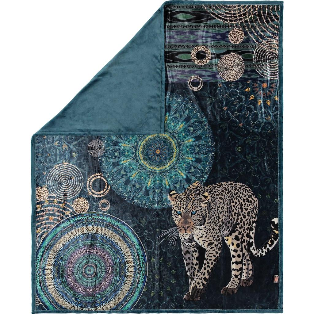 hip Plaid »Imena«, mit Mandalas und Schneeleopard