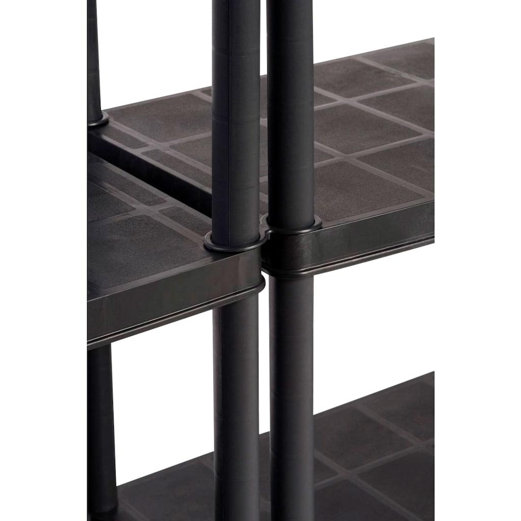 Kreher Schwerlastregal, (Set, 2 St.), B/T/H: 92,5x45,8x185 cm, 5 Böden, Kunststoff