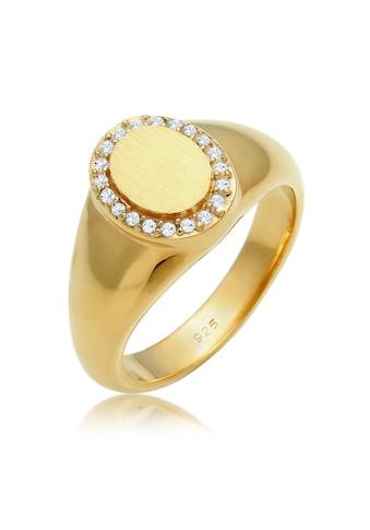 Elli Fingerring »Siegelring Edel Swarovski® Kristalle 925 Silber« kaufen