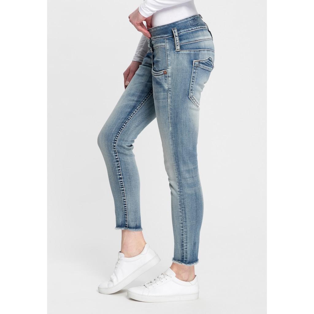 Herrlicher Slim-fit-Jeans »PITCH SLIM CROPPED«, umweltfreundlich dank Kitotex Technology