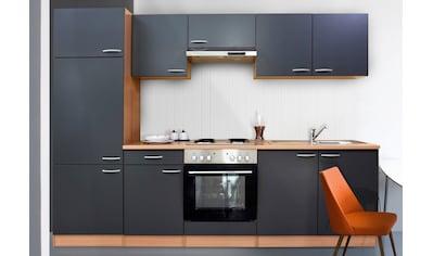 RESPEKTA Küchenzeile »Respekta Basic«, mit Edelstahl-Kochmulde, Breite 270 cm kaufen