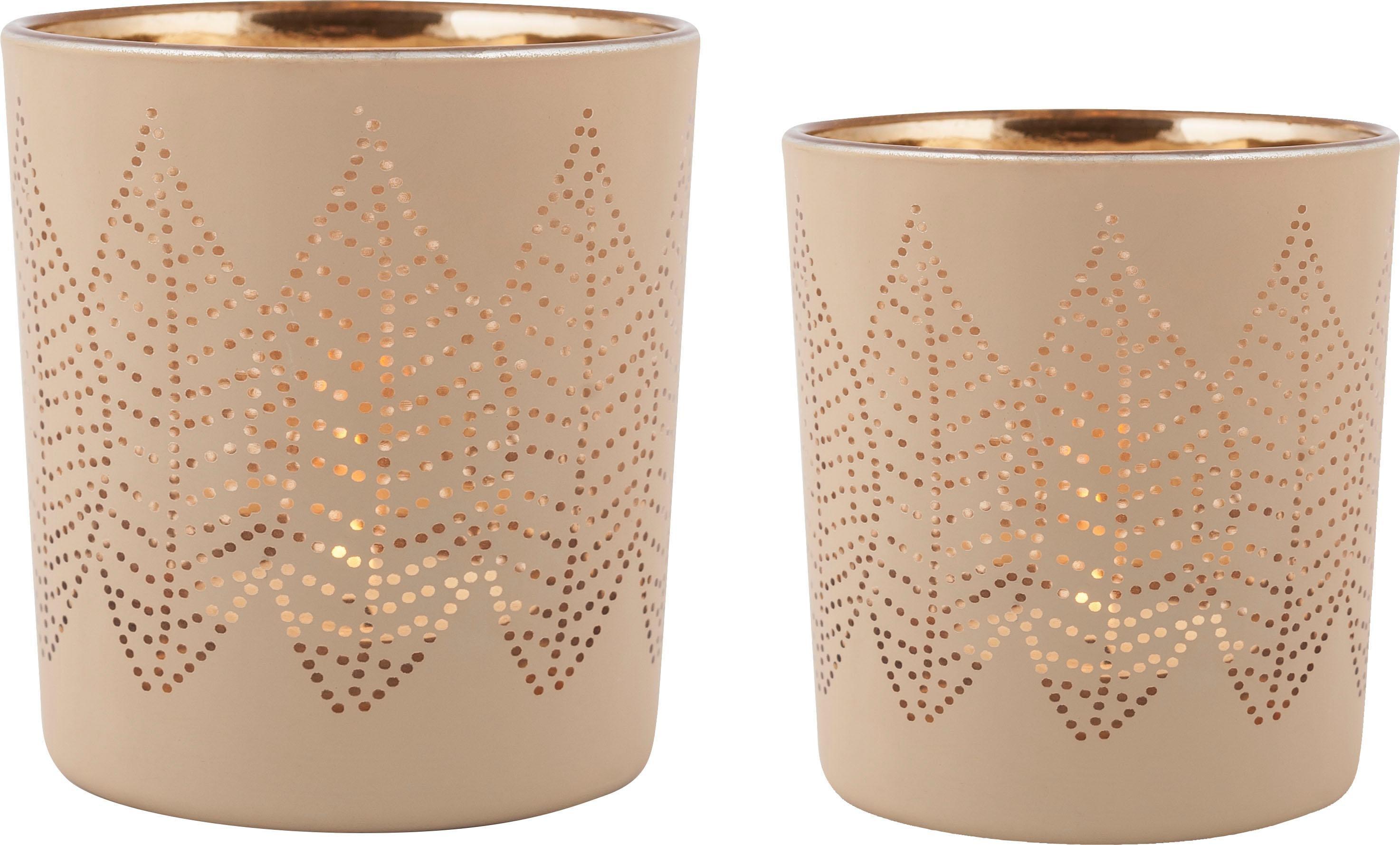 Home affaire Teelichthalter Leaf II | Dekoration > Kerzen und Kerzenständer > Kerzenständer | Goldfarben | Home Affaire