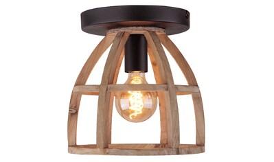 Brilliant Leuchten Matrix Wood Deckenleuchte 1flg antik holz/schwarz korund kaufen
