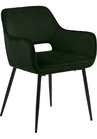 andas Esszimmerstuhl »Ranja«, 2er Set, mit einer schönen Polsterung, mit Metallbeine und Armlehnen, Sitzhöhe 47 cm kaufen