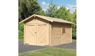 KARIBU Garage »Stephan«, BxT: 338x489 cm, Einfahrtshöhe: 193 cm kaufen