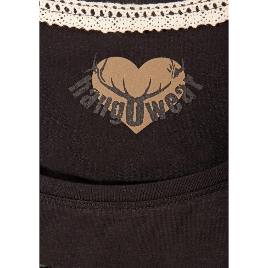 Hangowear Trachtenshirt, mit Hirsch-Aufdruck