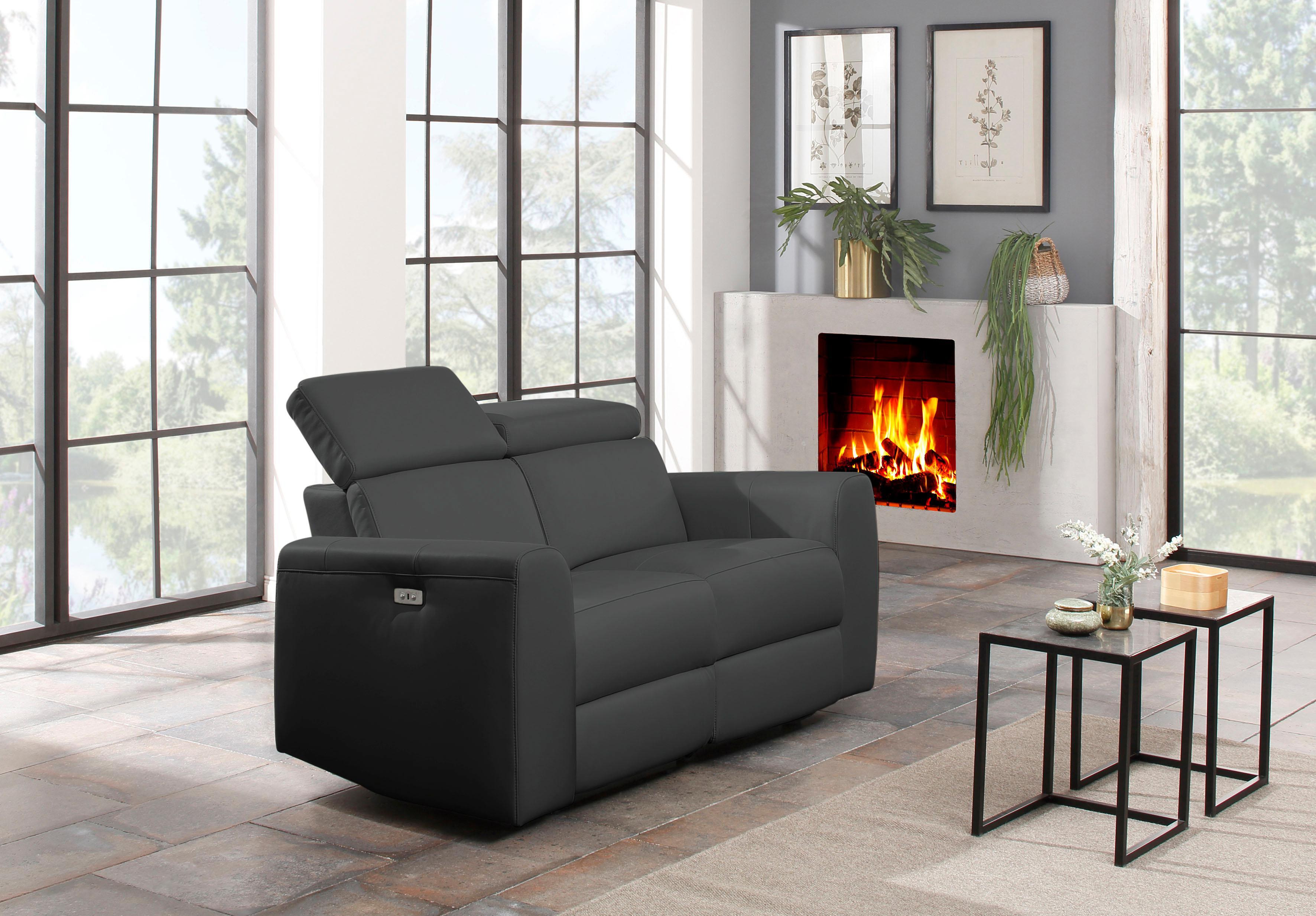Home affaire 2-Sitzer Sentrano wählbar zwischen manueller oder motorischer Relaxfunktion auch in Naturleder erhältlich