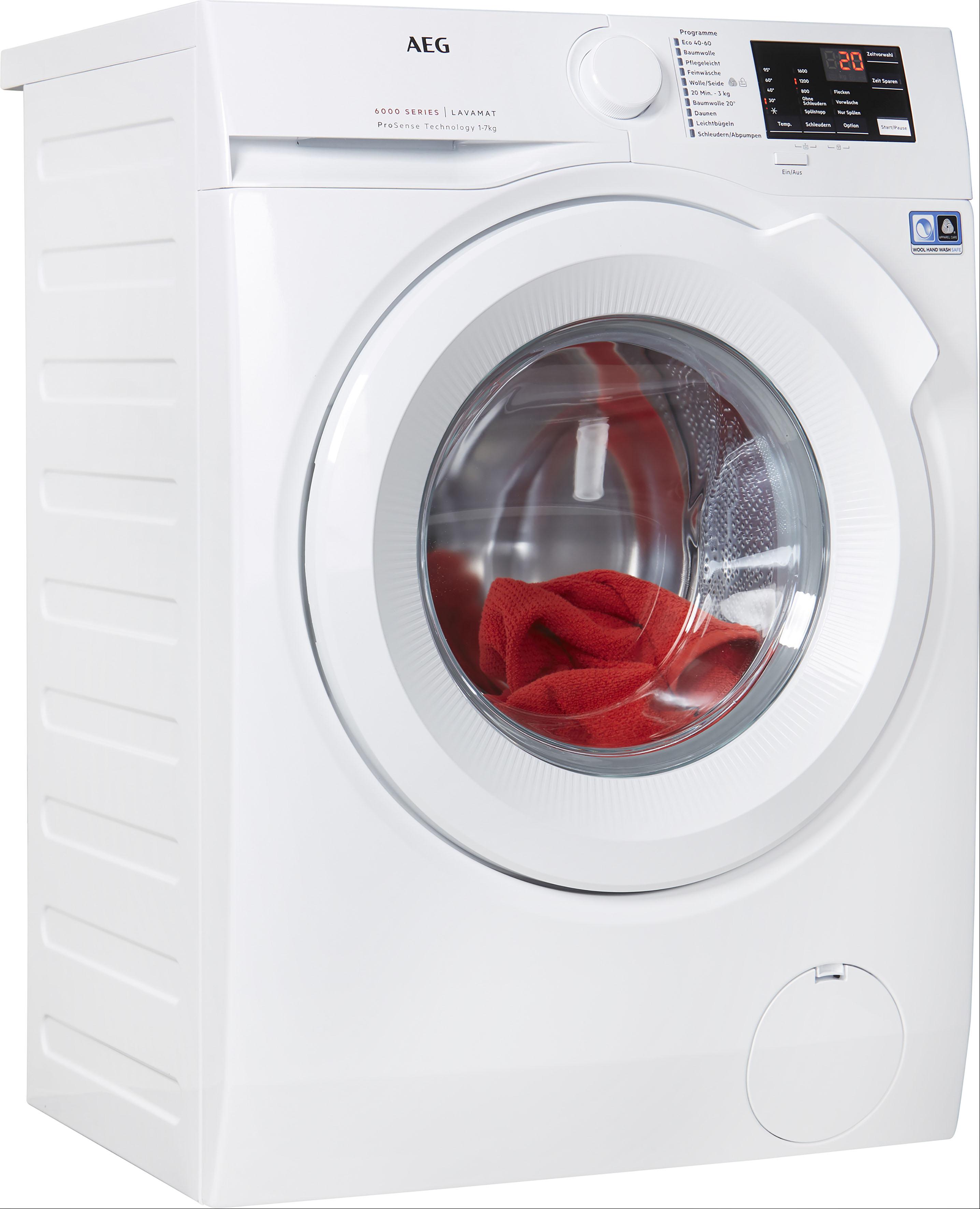 AEG Waschmaschine, L6FBA5670 EEK A+++ weiß Waschmaschinen Haushaltsgeräte Waschmaschine