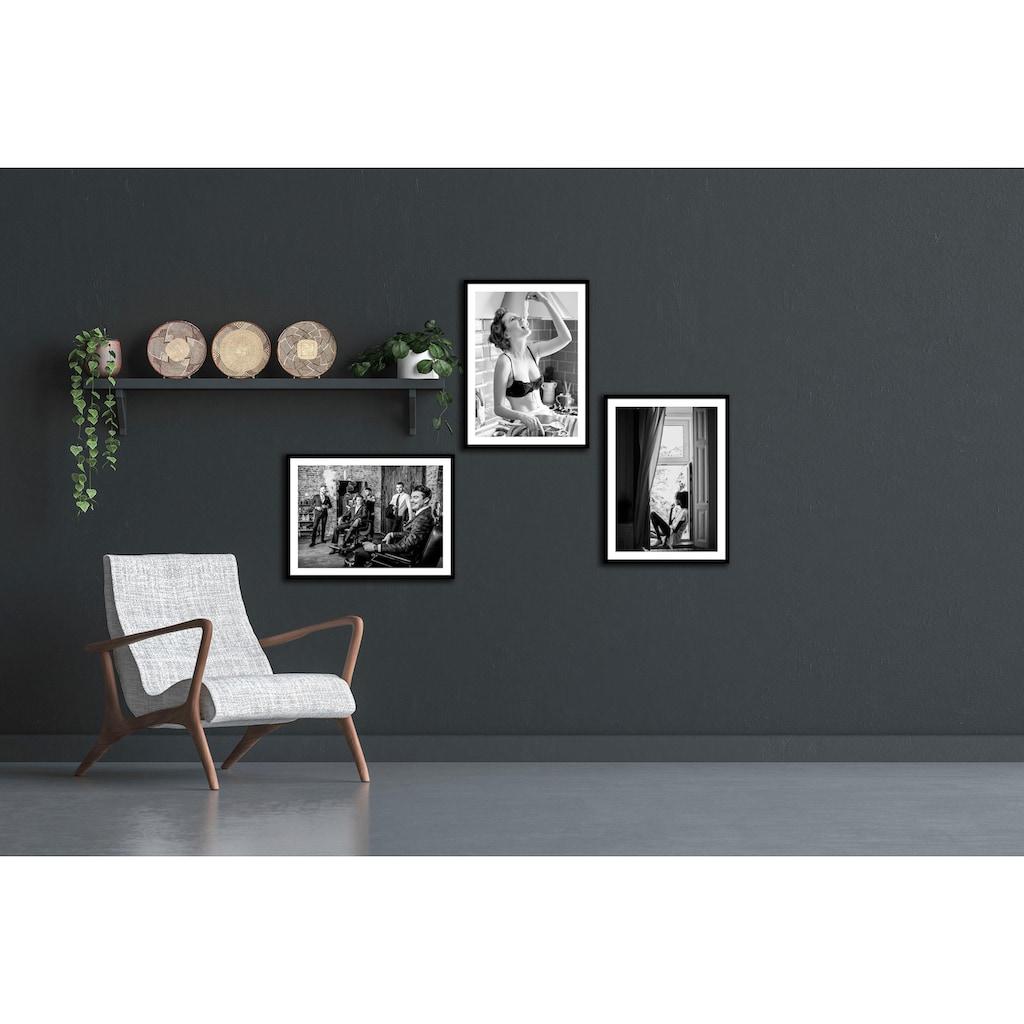Spiegelprofi GmbH Bild »Frau«, mit Rahmen