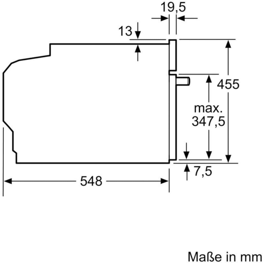 BOSCH Pyrolyse Backofen »CBG675BS3«, 8, CBG675BS3, mit Teleskopauszug nachrüstbar, Pyrolyse-Selbstreinigung