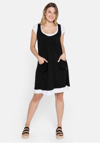 Sheego Strandkleid, in Lagenoptik und mit Raffungen kaufen