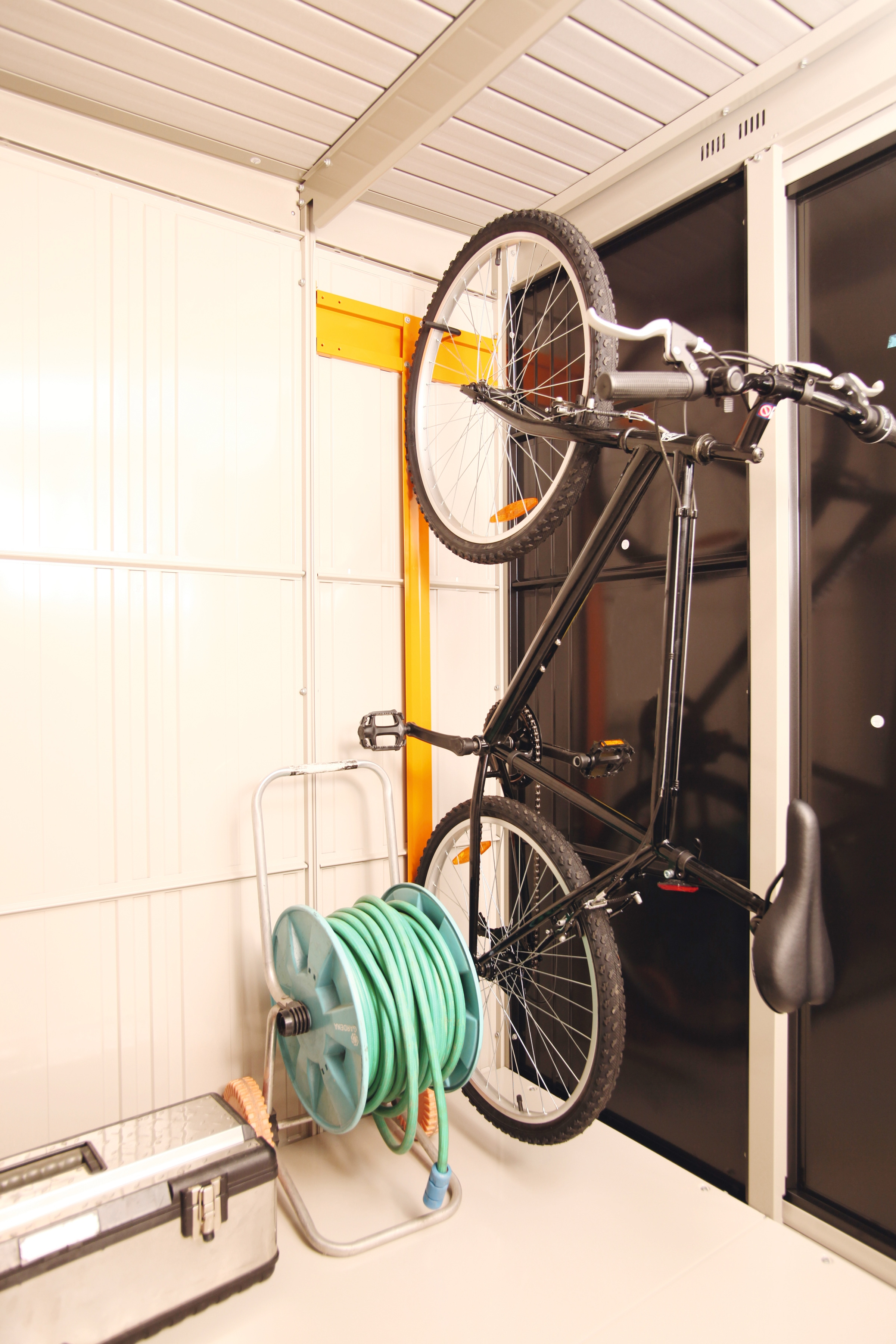 Wolff Fahrradhalter, für Stahlgerätehaus Yokohama, Sapporo 2219 und Nagoya orange Fahrradhalter