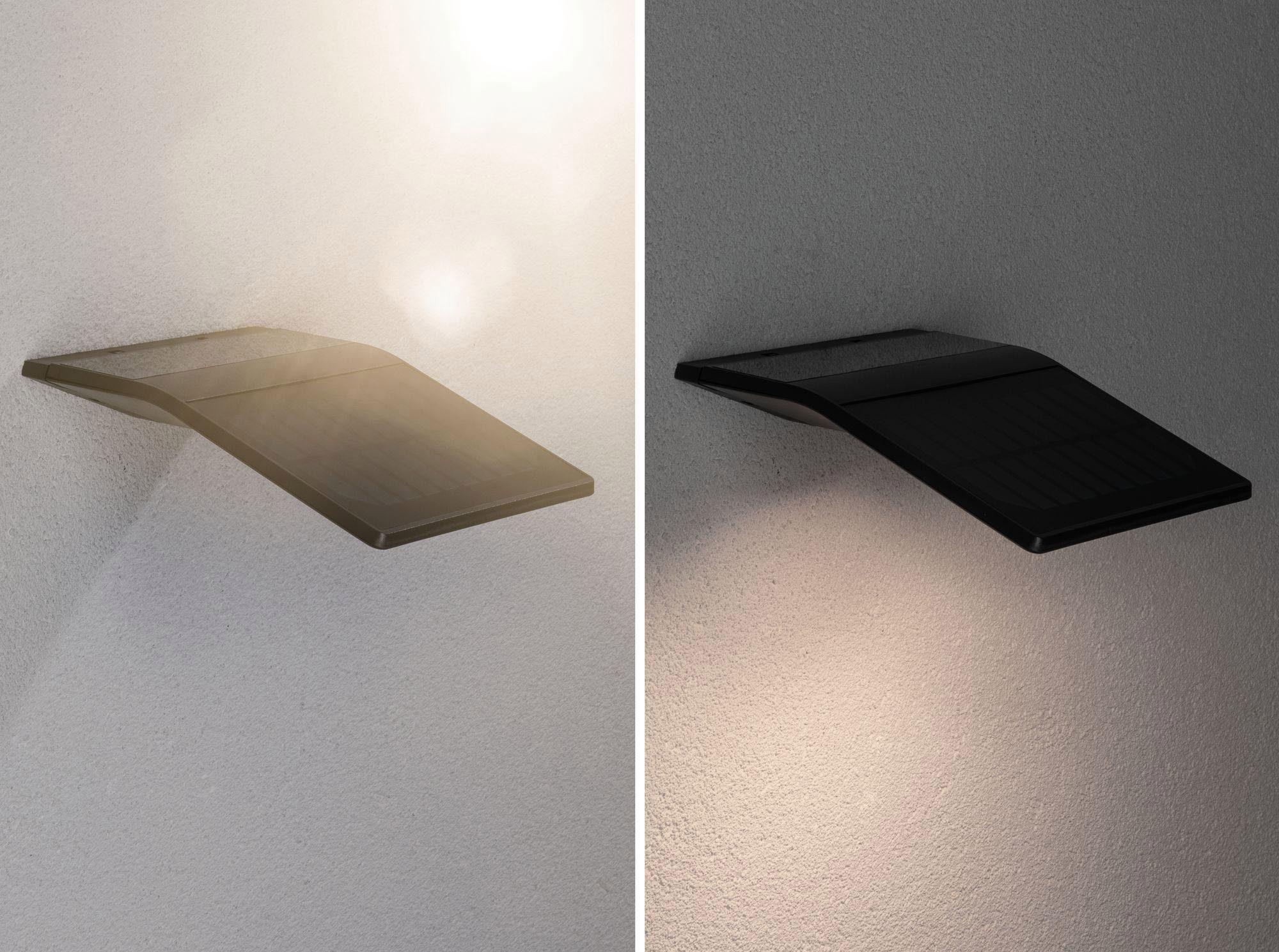 Paulmann LED Außen-Wandleuchte Outdoor Solar Wandleuchte Yoko Anthrazit mit Bewegungsmelder 3000K, Warmweiß
